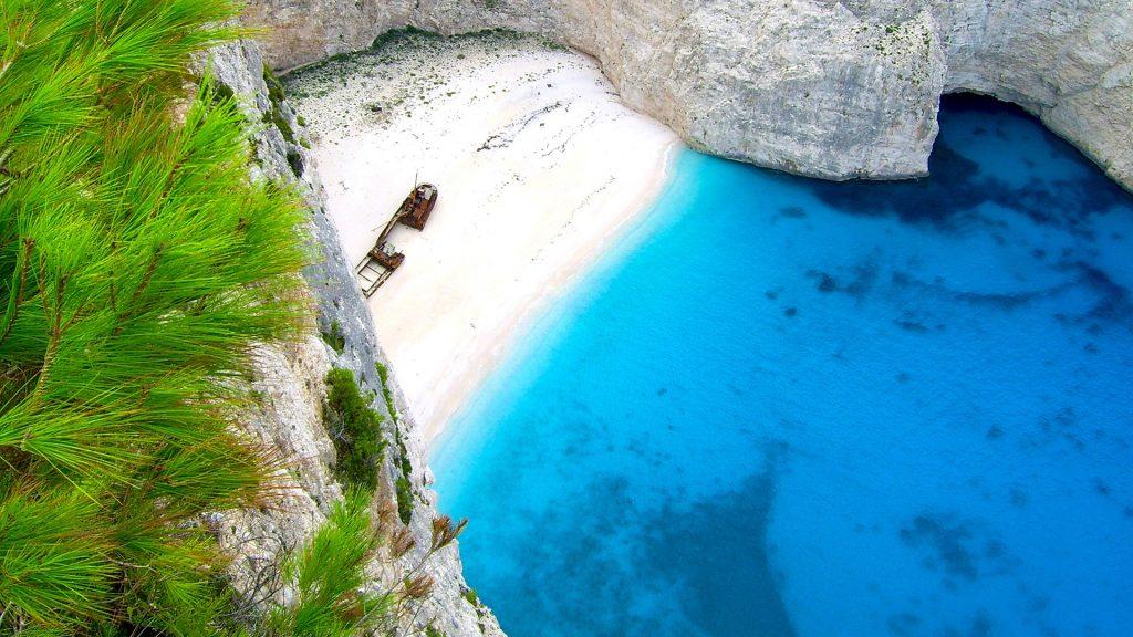Shipwreck bay Navagio beach, Zakynthos, Greece