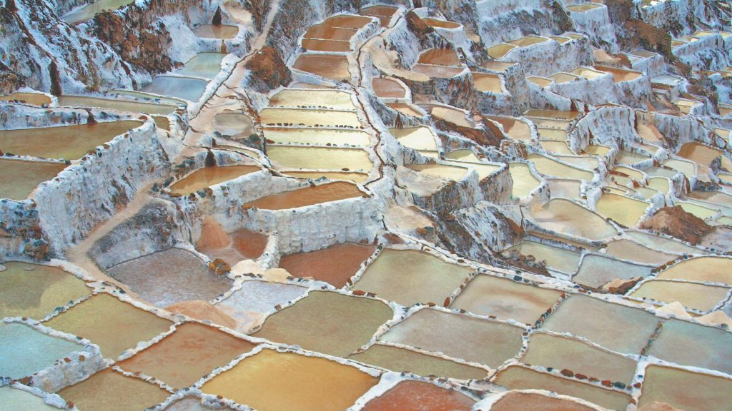 Salt production colors variations, Altiplano, Andes, Argentina