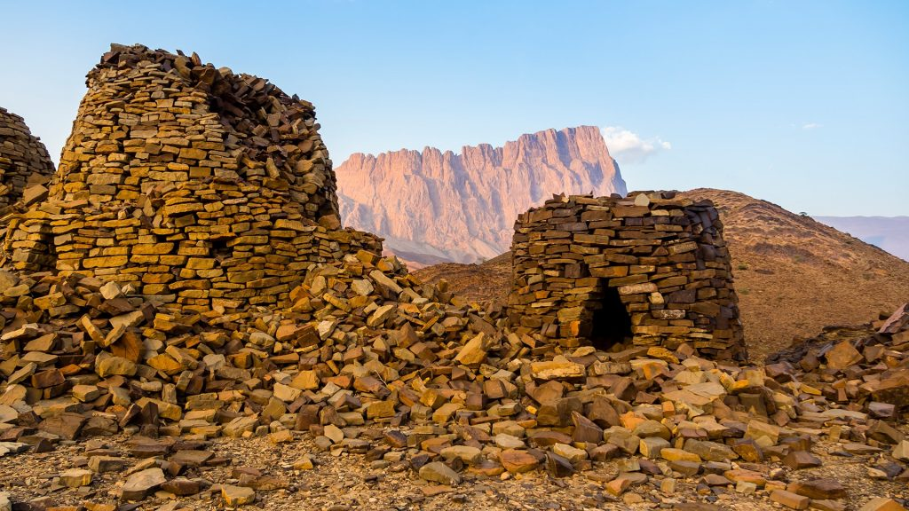 Beehive tombs excavations site, Al-Ain, Jabal Misht, Ad-Dakhiliyah, Oman