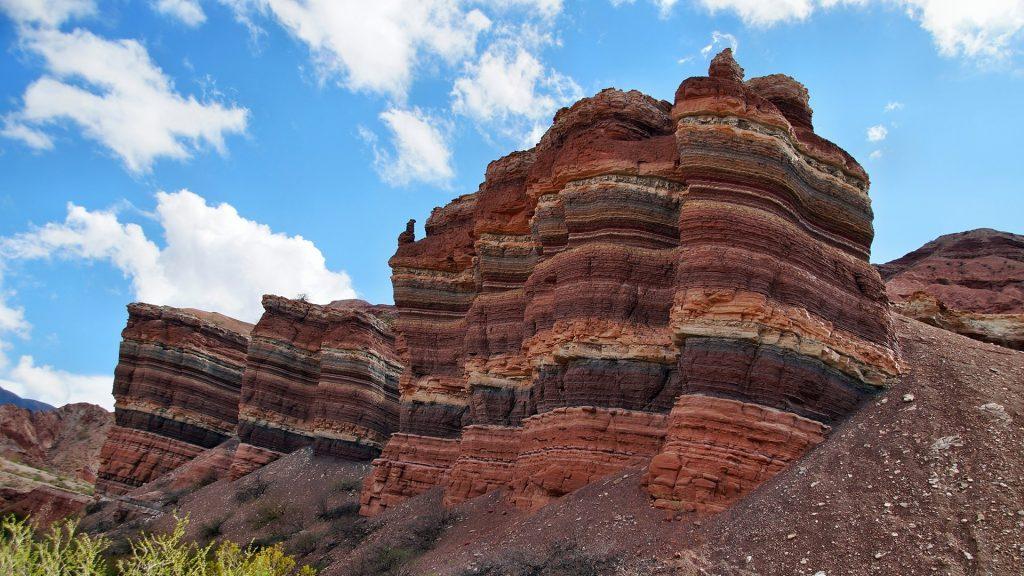 Rock formations at Quebrada de las Conchas near Cafayate, Salta, Argentina