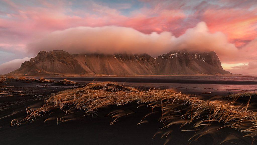 Sunrise over Stokksnes, near Höfn, Iceland