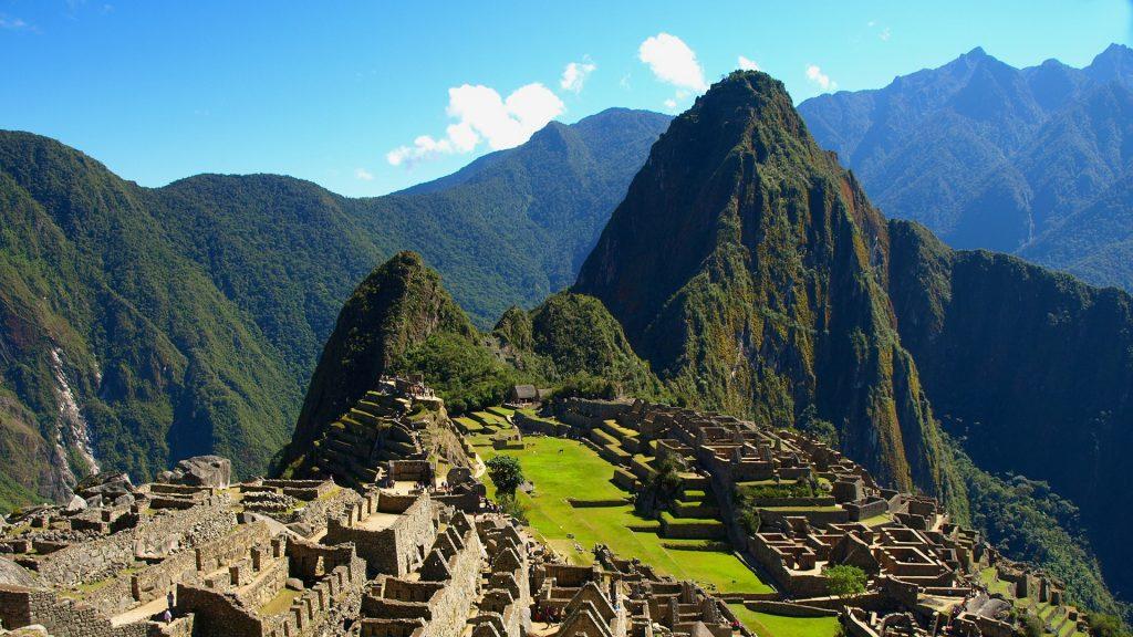 Machu Picchu, ruins of lost ancient city of Incan Empire in Peru