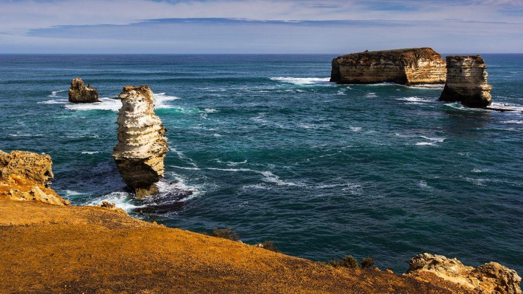 Cliffs and rock formation in Victoria, Australia
