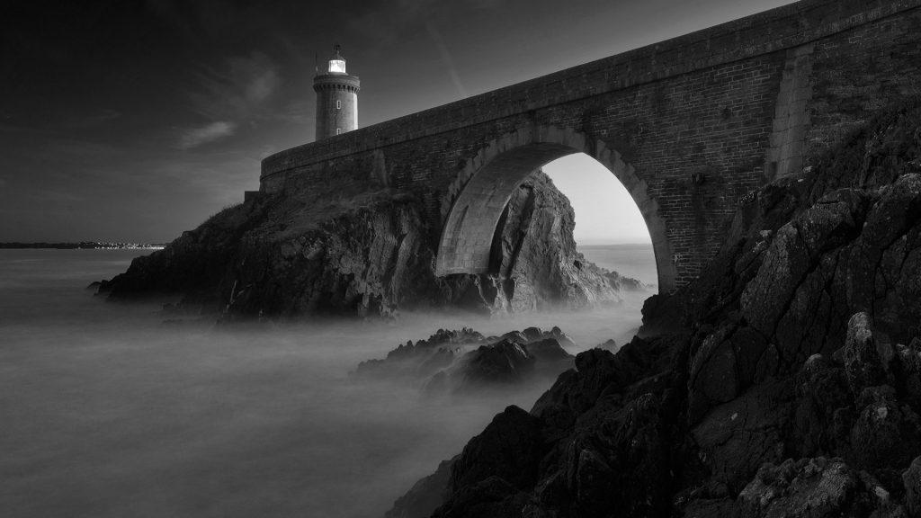Lighthouse Petite Minou in Brest, Plouzané, Brittany, France
