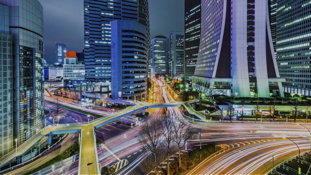 Office buildings in West Shinjuku, Tokyo, Japan