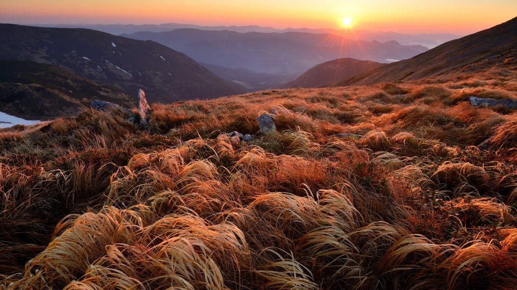 Chornogora Ridge Landscape, Carpathian Mountains, Ivano-Frankivsk Region, Ukraine