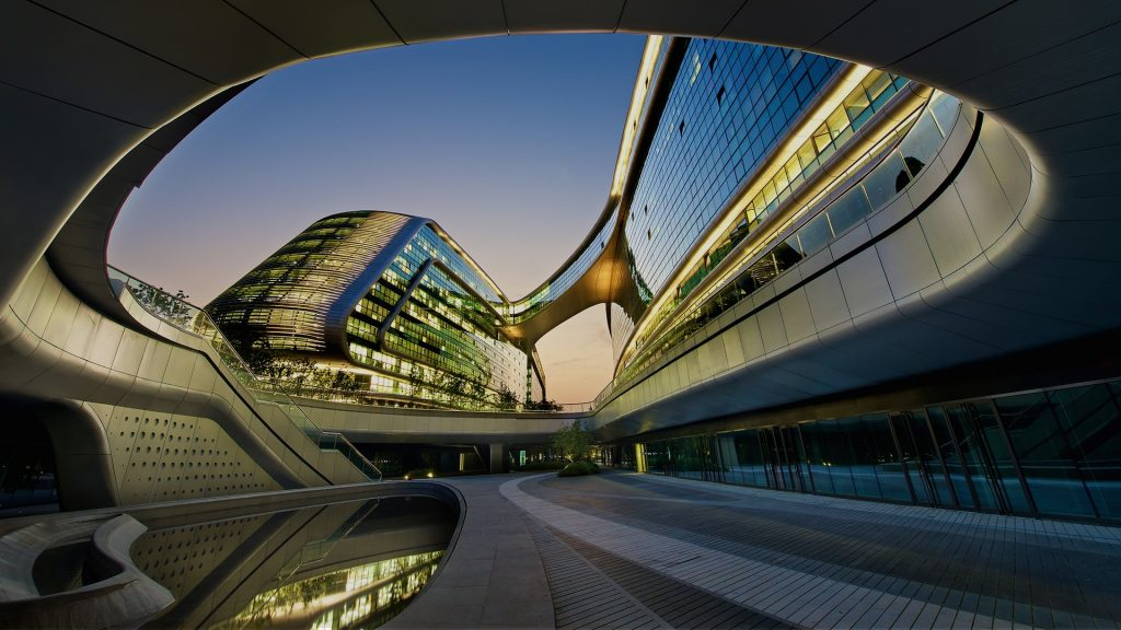 Soho Hongqiao building near Shanghai Hongqiao Airport, China
