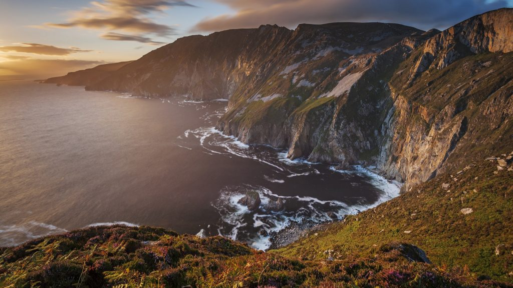 The Slieve League Cliffs at sunset, Donegal, Ireland