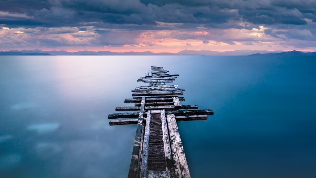 Old wooden pier, Corinthia, Greece