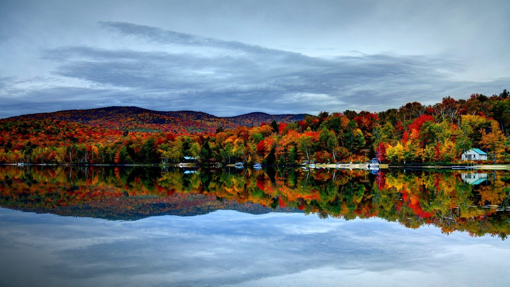 Autumn in the White Mountains of New Hampshire, New England, USA