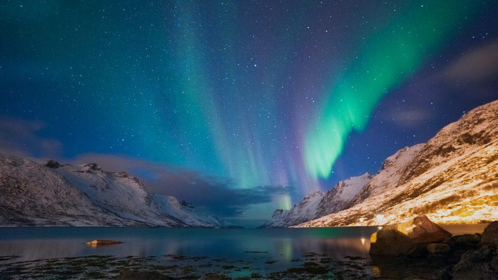 The polar lights, Ersfjord, Tromsø, Norway