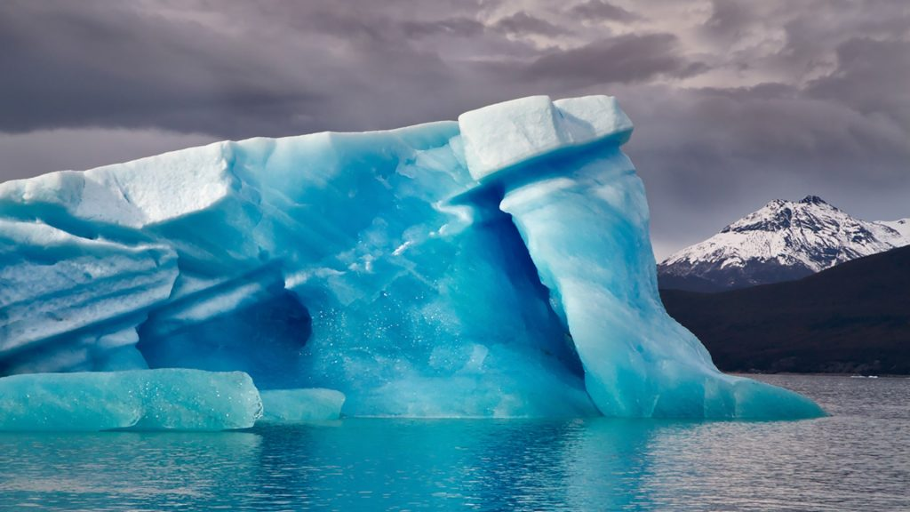 Iceberg on lake Lago Argentino, near Upsala glacier, Patagonia, Argentina