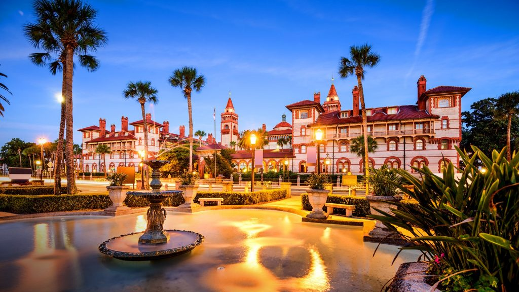 Townscape at Alcazar Courtyard, St. Augustine, Florida, USA