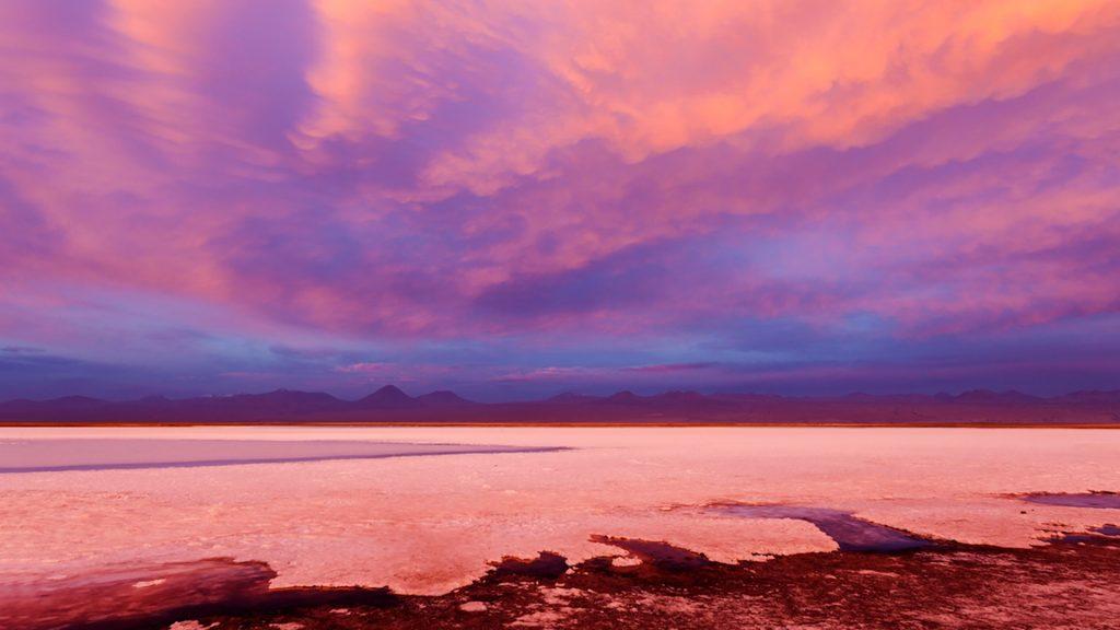 Laguna Tebinquiche at sunrise, Atacama Desert, Antofagasta Region, Chile