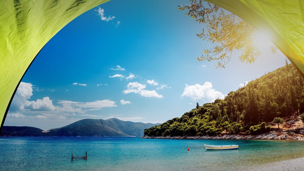 Horgota Beach on Kefalonia island, Greece