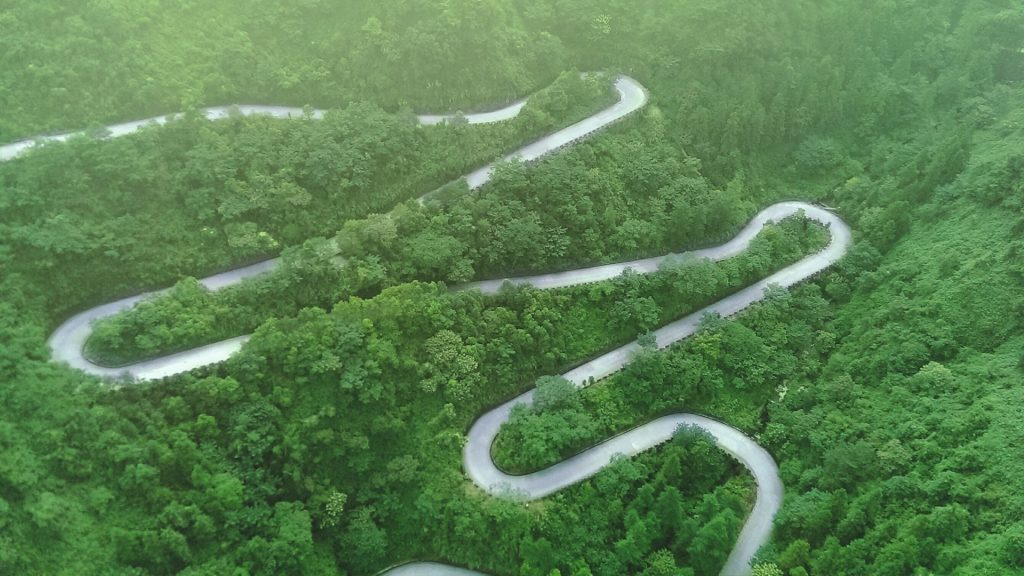 Heaven-Linking Avenue or Big Gate Road, Tianmen Mountain, Hunan province, China