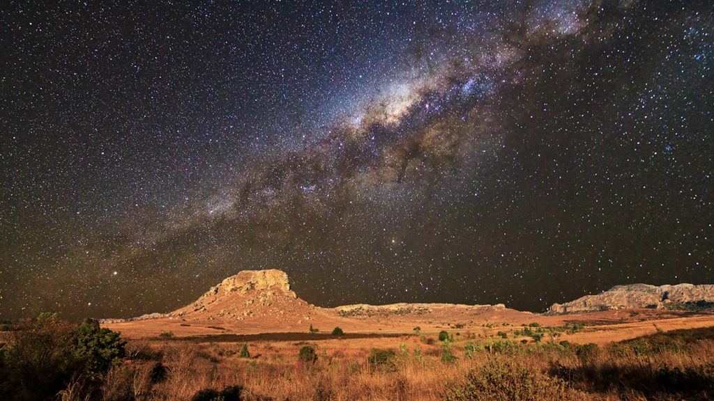 Milky Way Seen From Isalo National Park Madagascar