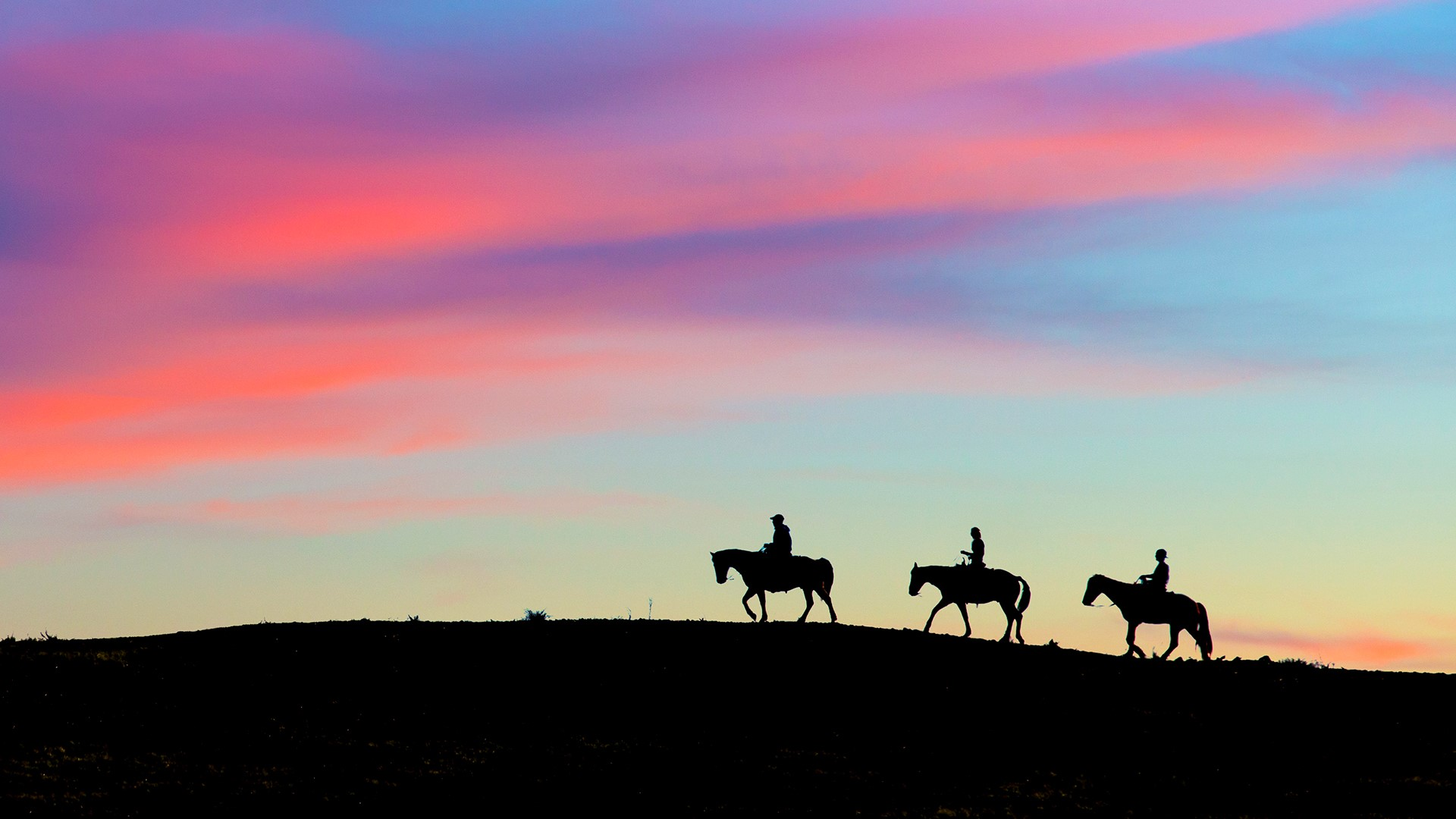 Horseback Riders In The Santa Monica Mountains California Usa