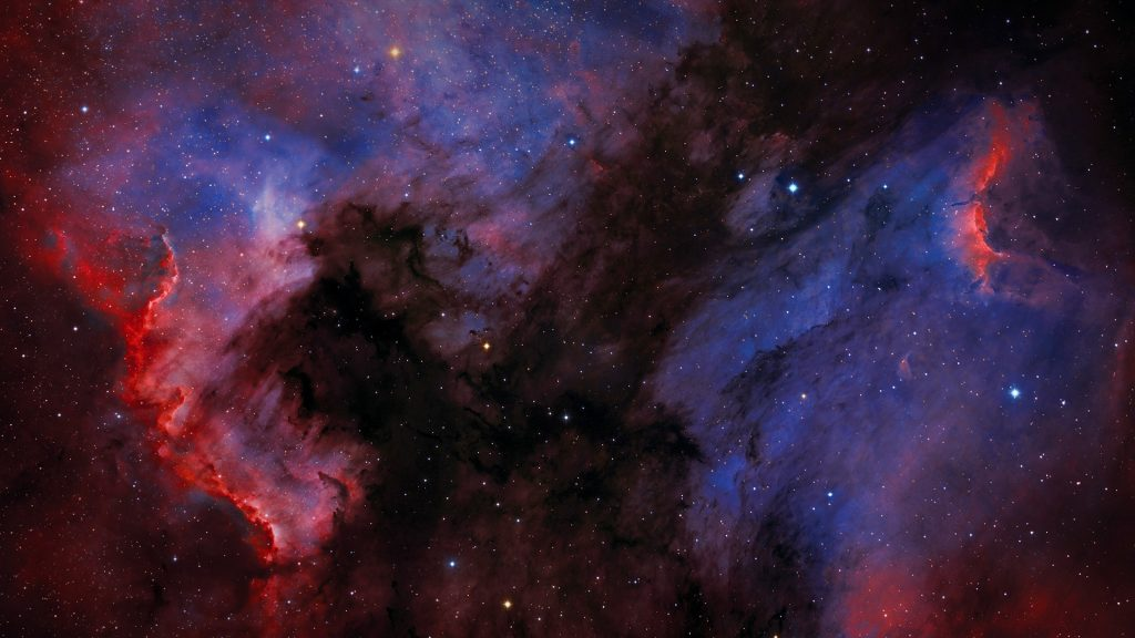 North America Nebula (NGC 7000) and Pelican Nebula in Cygnus constellation