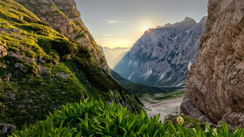 Early morning in the mountains, Triglav, Julian Alps, Slovenia