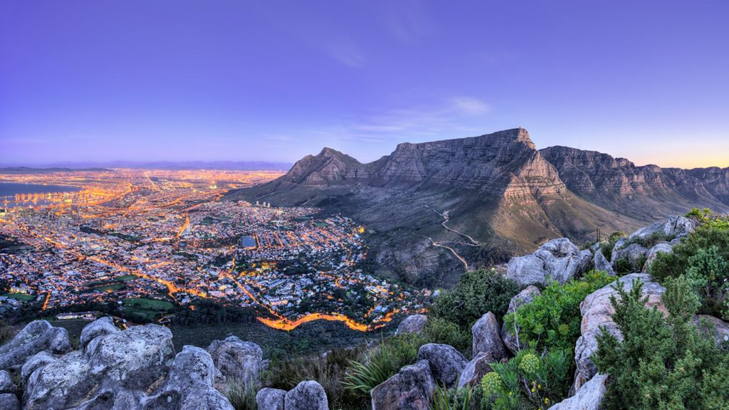 Mountains and sea view, Cape Town, South Africa