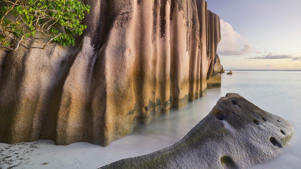 Granite rocks in Anse Source d'Argent, La Digue Island, Seychelles