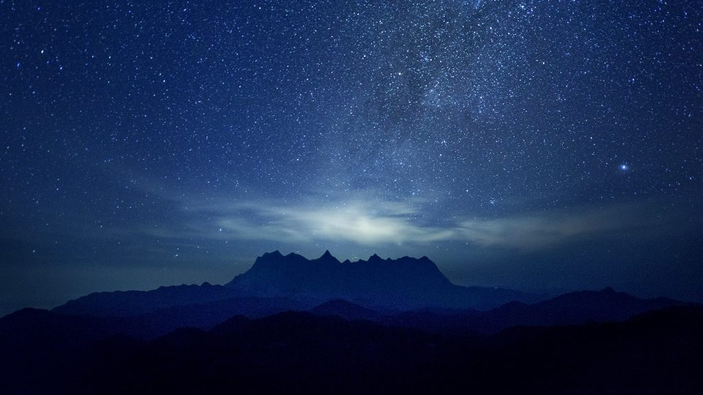 Milky way over the mountain, Chiang Dao, Chiangmai, Thailand