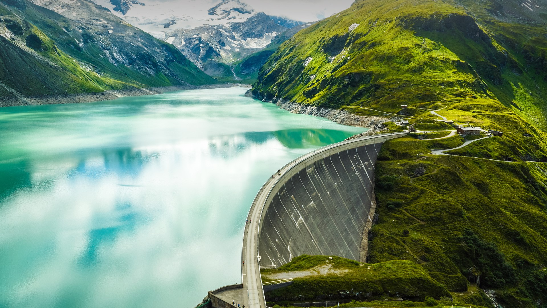 Mooserboden Reservoir And Mooser Dam Near Kaprun Austria Windows 10 Spotlight Images