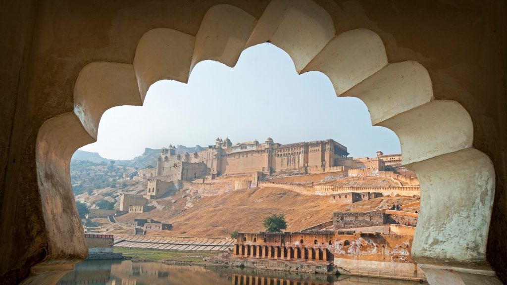 The incredible Amber Fort near Jaipur, Rajasthan, India