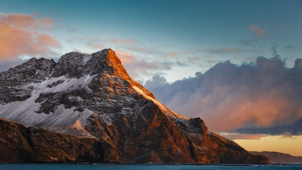 Sunrise at South Georgia Island
