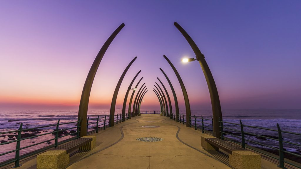 Pier at Umhlanga Rocks during sunrise, Durban, South Africa