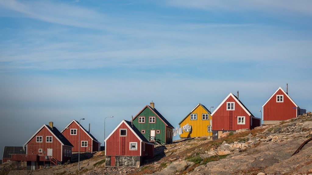 The tiny settlement of Ittoqqortoormiit in east Greenland