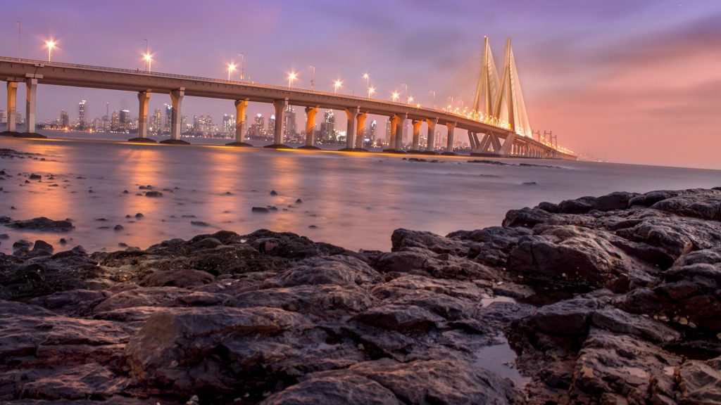The Bandra-Worli Sea Link bridge, Mumbai, India