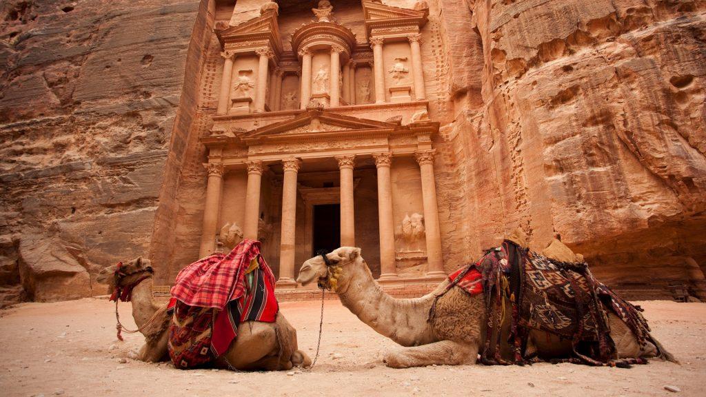 Al-Khazneh or the Treasury at Petra, Jordan