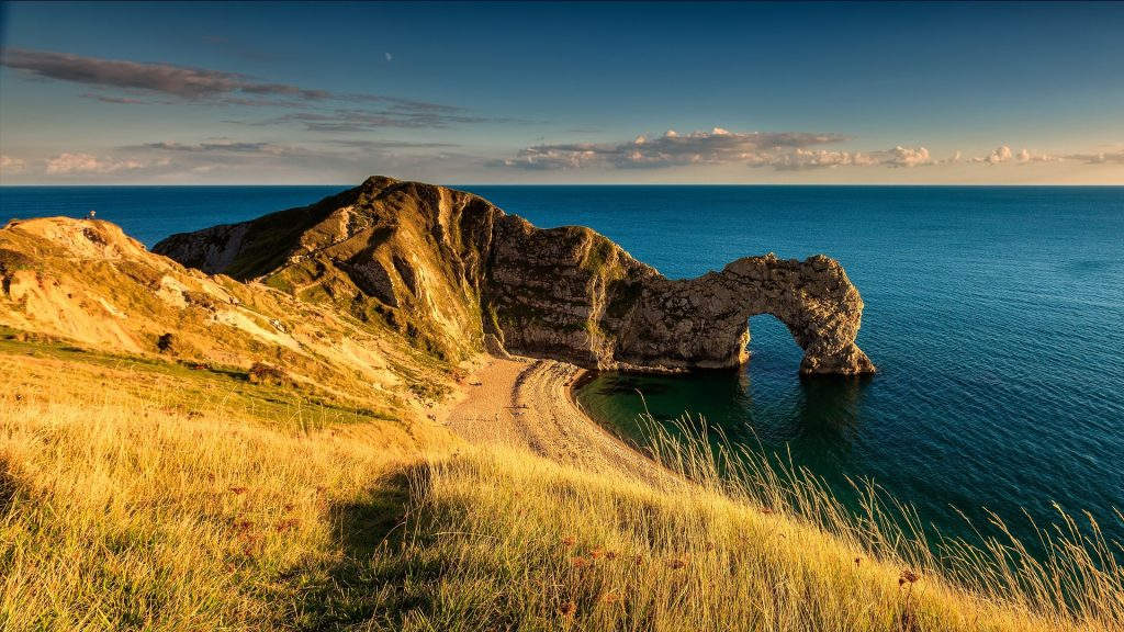Durdle Door natural arch on the Jurassic Coast near Lulworth, Dorset, England, UK