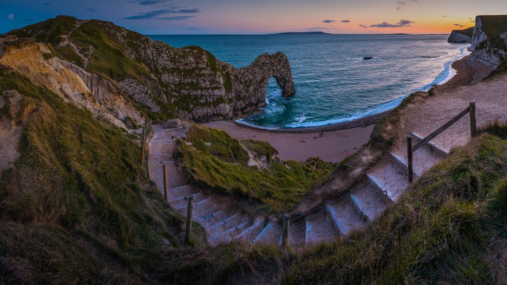 Beach Path To Ocean Seaside Cove Durdle Door Jurassic