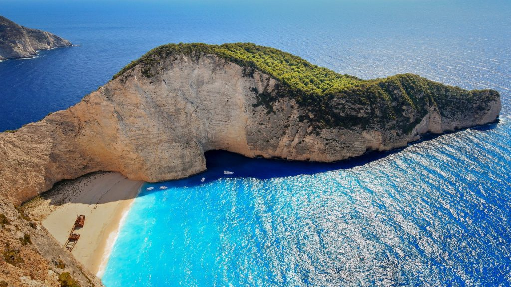 Smugglers Cove and Navagio beach, Zakynthos, Greece
