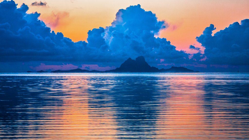 Sunset over Bora Bora, French Polynesia