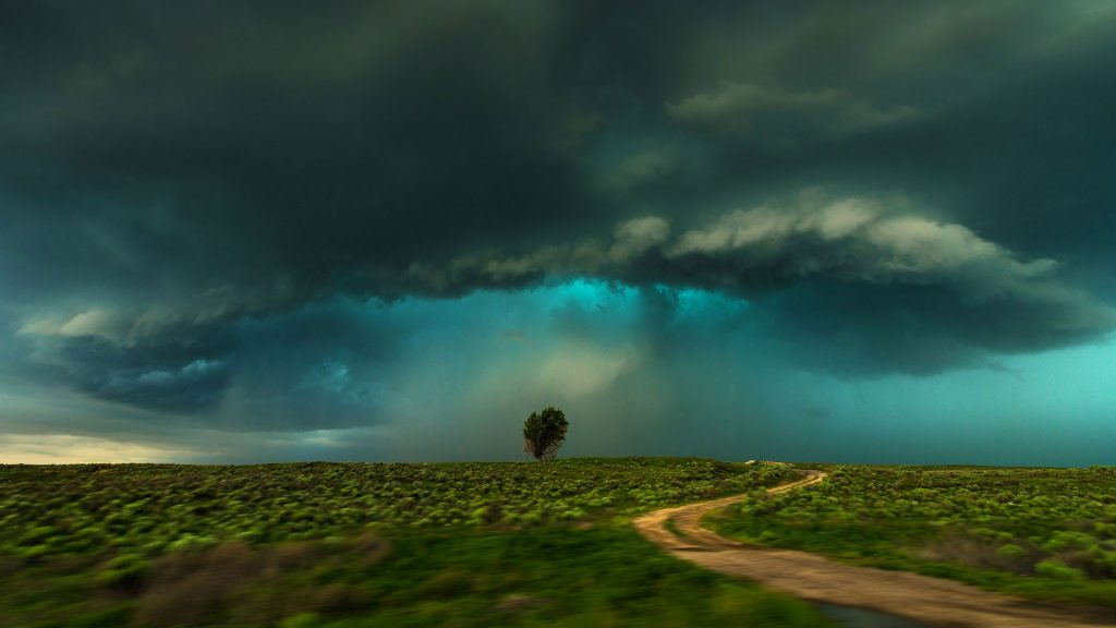 Shelf cloud storm, Lamar, Colorado, USA