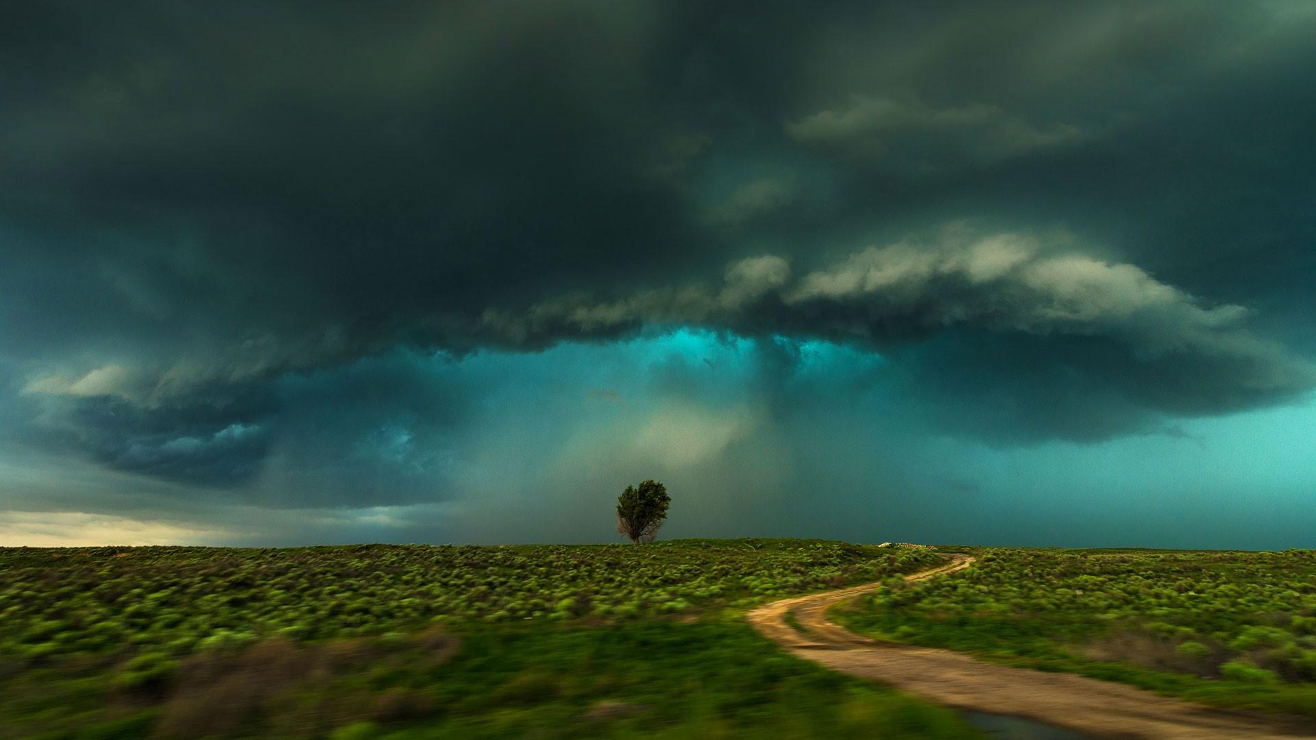 Shelf cloud storm, Lamar, Colorado, USA | Windows 10 ...