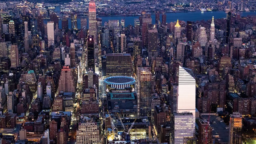 Empire State Building and Madison Square Garden, New York City, USA