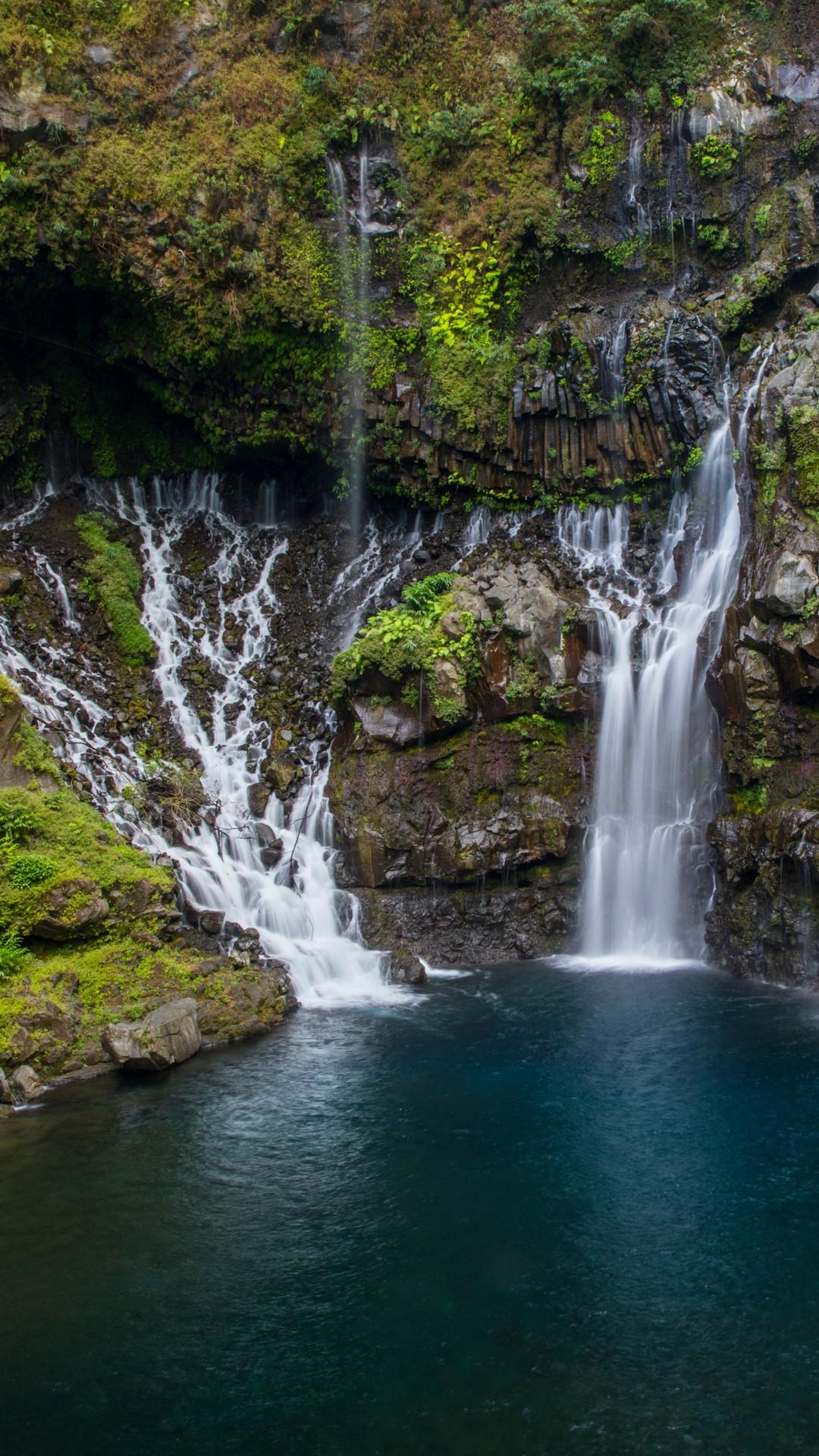 Rainforest Waterfall Cascade De Grand Galet Or Cascade