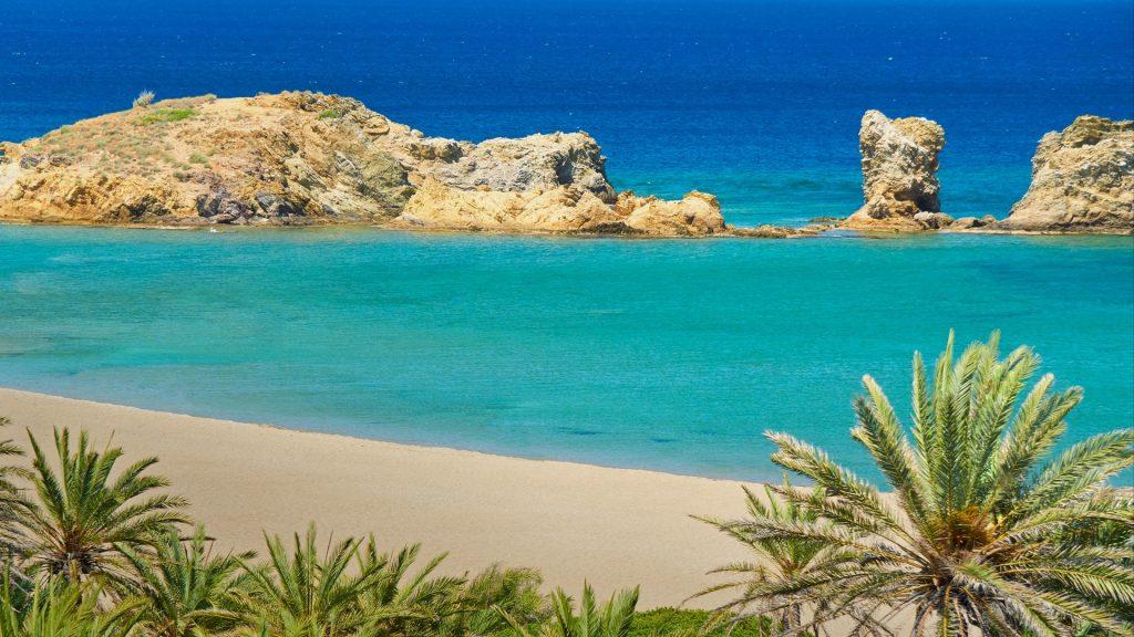 Vai Beach on Crete Island, Greece
