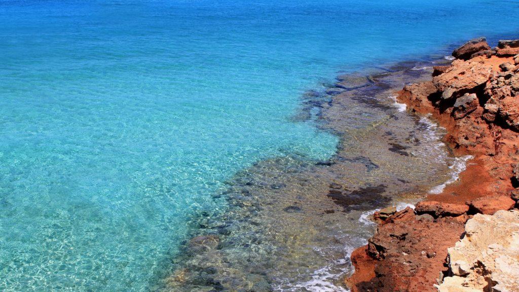 Formentera Cala Saona mediterranean best beaches, Balearic Islands, Spain