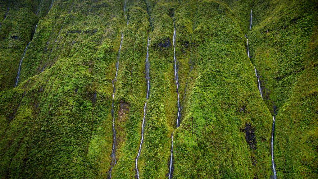 Mount Waialeale known as the wettest spot on Earth, Kauai, Hawaii, USA