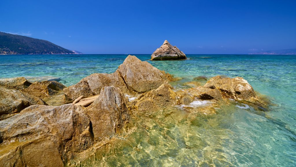 Agia Kyriaki beach on Kefalonia island, Greece