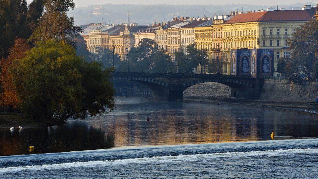Legion Bridge and Vlatava river, Prague, Czech Republic