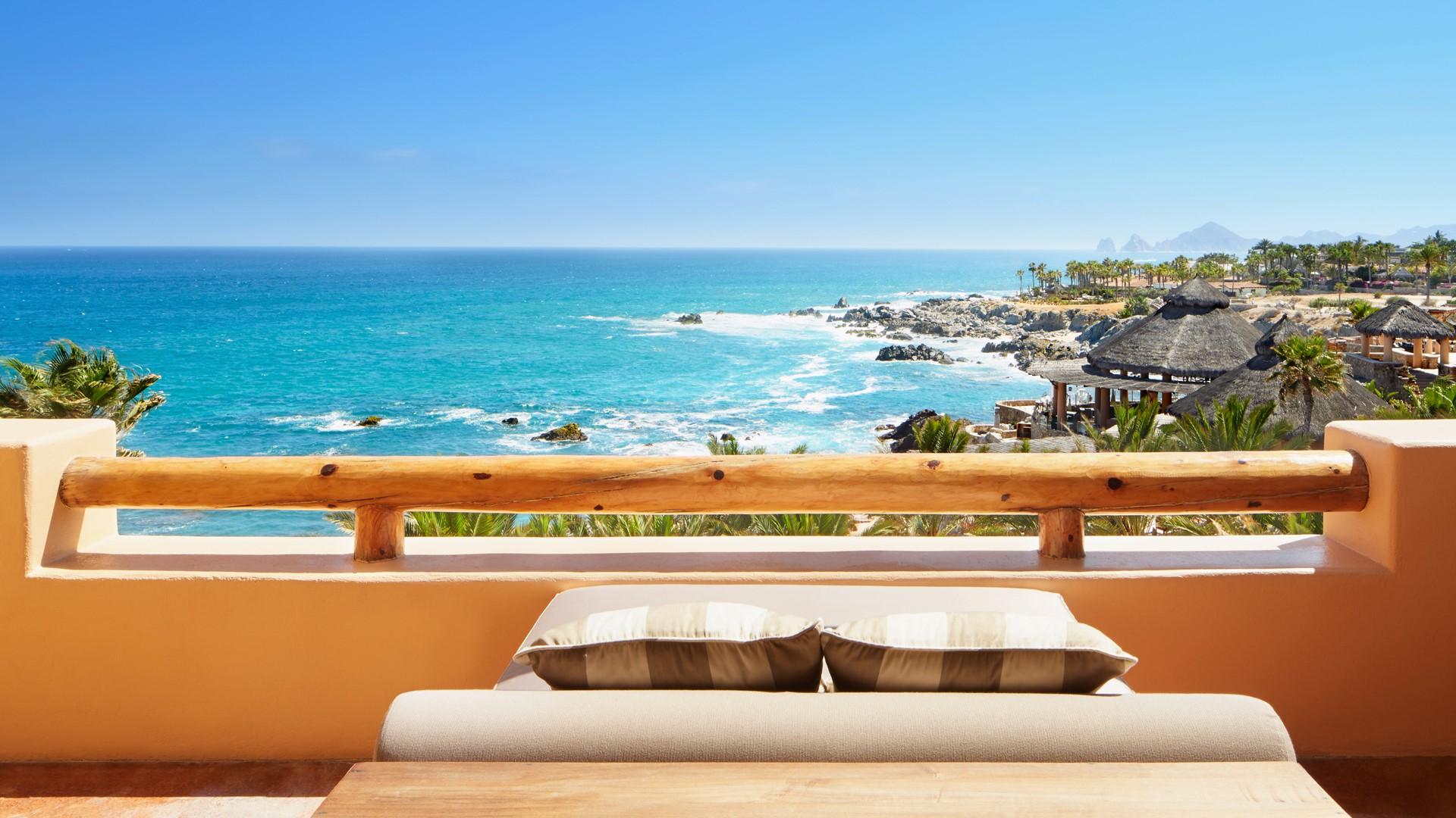 balcony overlooking ocean, cabo san lucas, baja california sur
