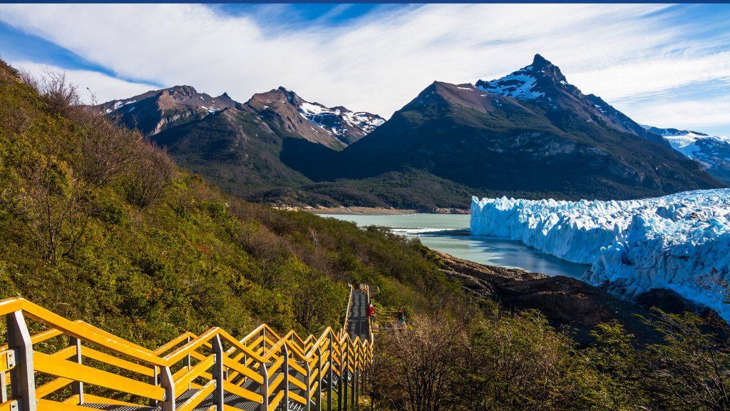 Footpath alongside Perito Moreno Glacier, Los Glaciares National Park, Argentina