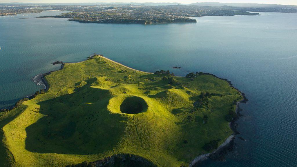 Browns Island or Motukorea, Auckland city, New Zealand North Island